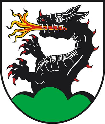 Lindwurm im alten Wappen von Wurmlingen (von Wikipedia)